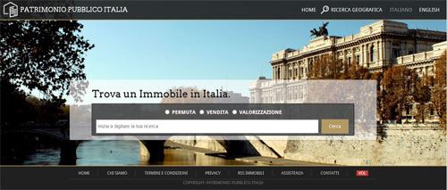 On line il nuovo portale Patrimoniopubblicoitalia